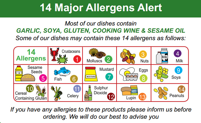 allergy & dietary informations